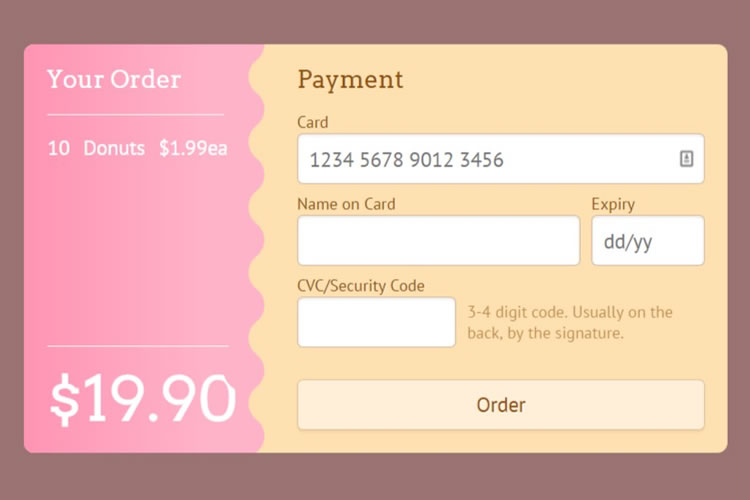 10 Free Open Source CSS3 Checkout Forms - 1stWebDesigner