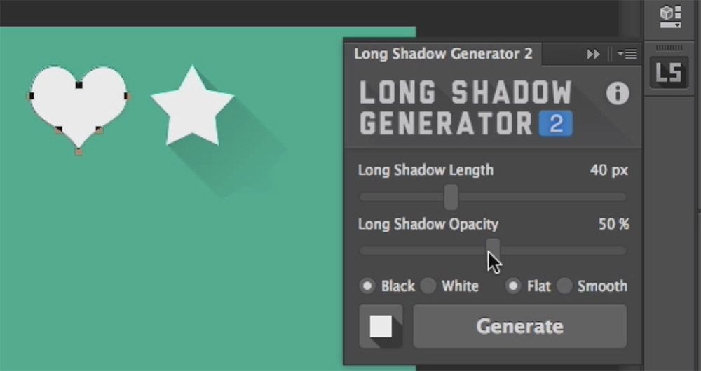 long shadow generator plugin