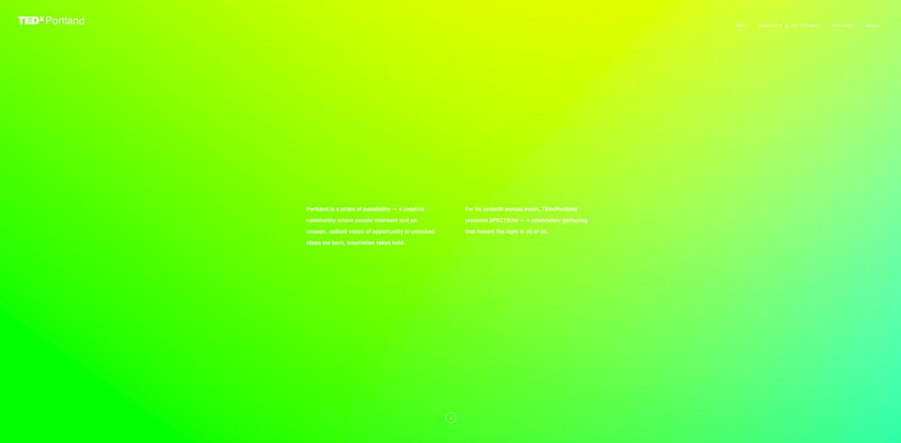 Seriously Bright Colorful Website Designs
