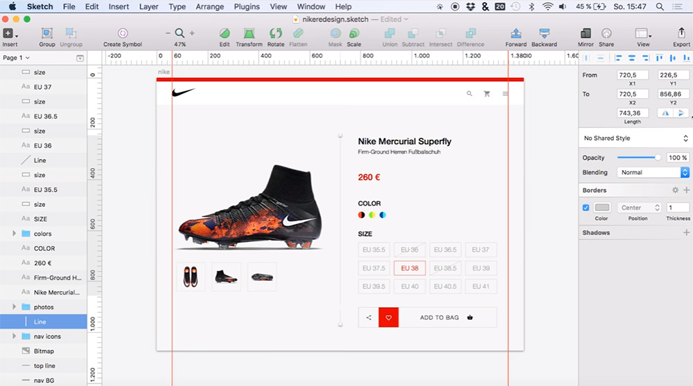 nike store ui redesign