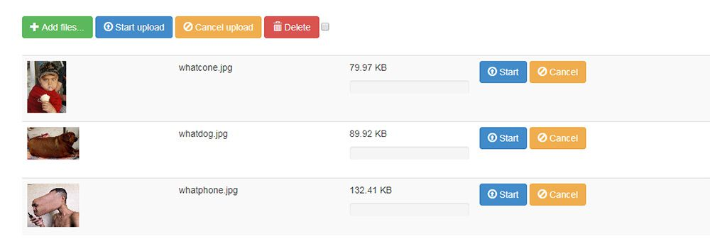 jquery file upload plugin