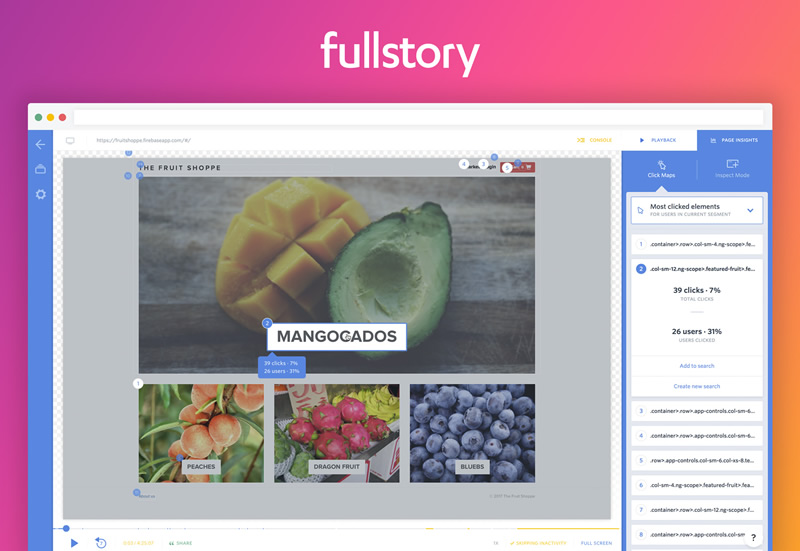 FullStory - More Complete than User Testing