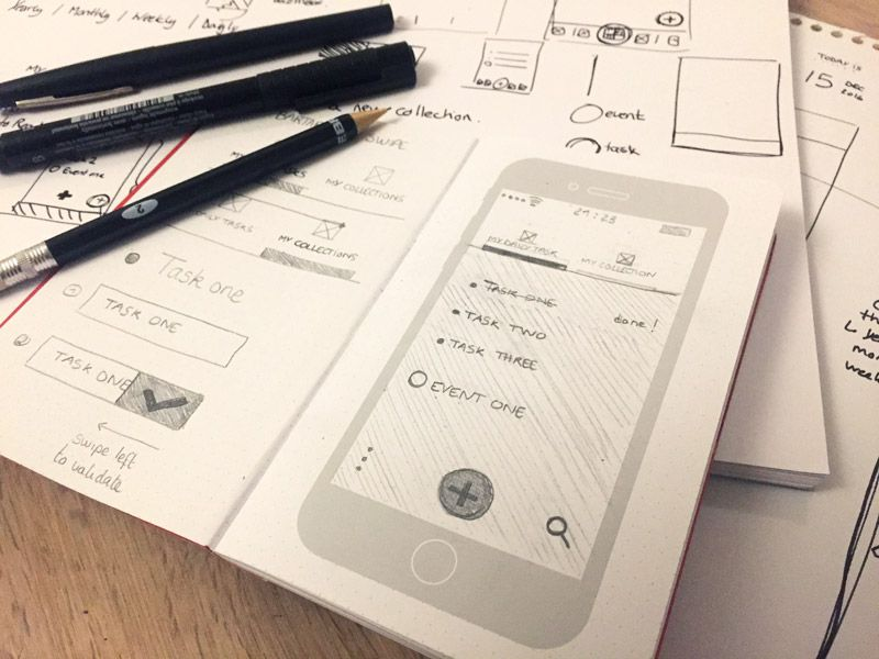 #015 Daily UI challenge - UX UI Sketches