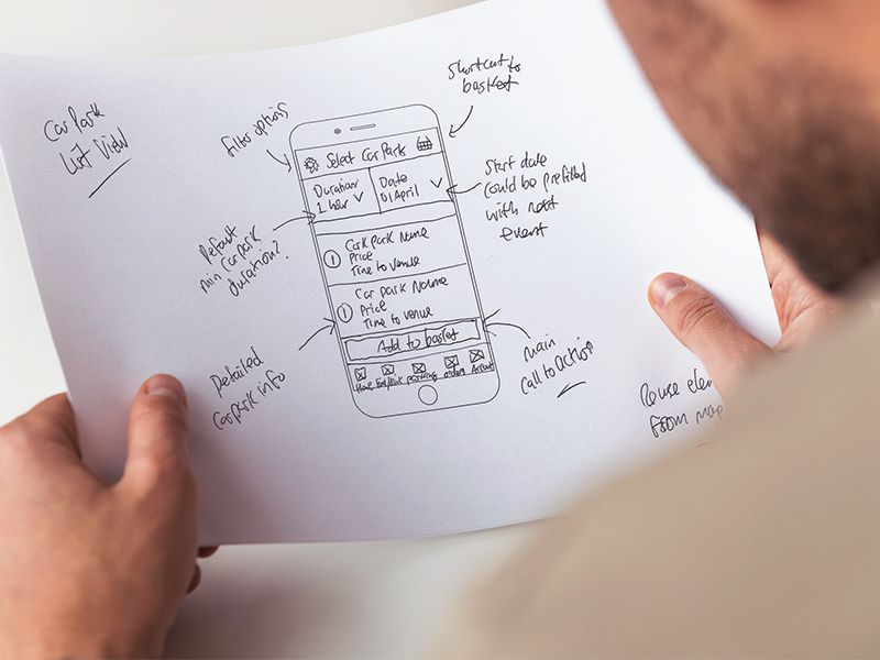 Preoday - Mobile App Wireframes
