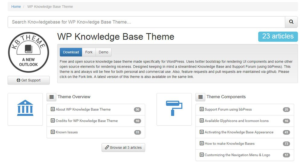 kb knowledgebase theme