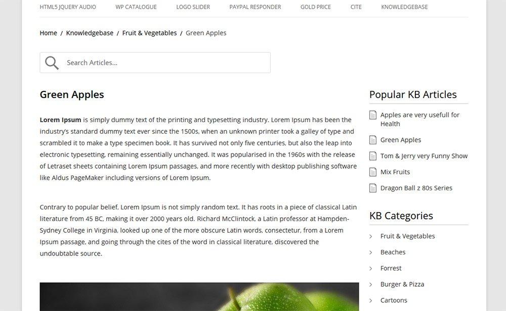 wp knowledgebase plugin