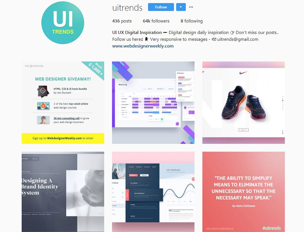 10 Instagram Accounts For Ui Ux Design Inspiration 1stwebdesigner