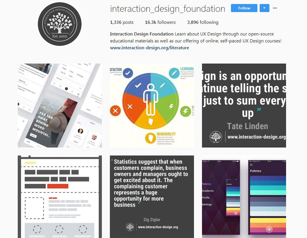interaction design Instagram