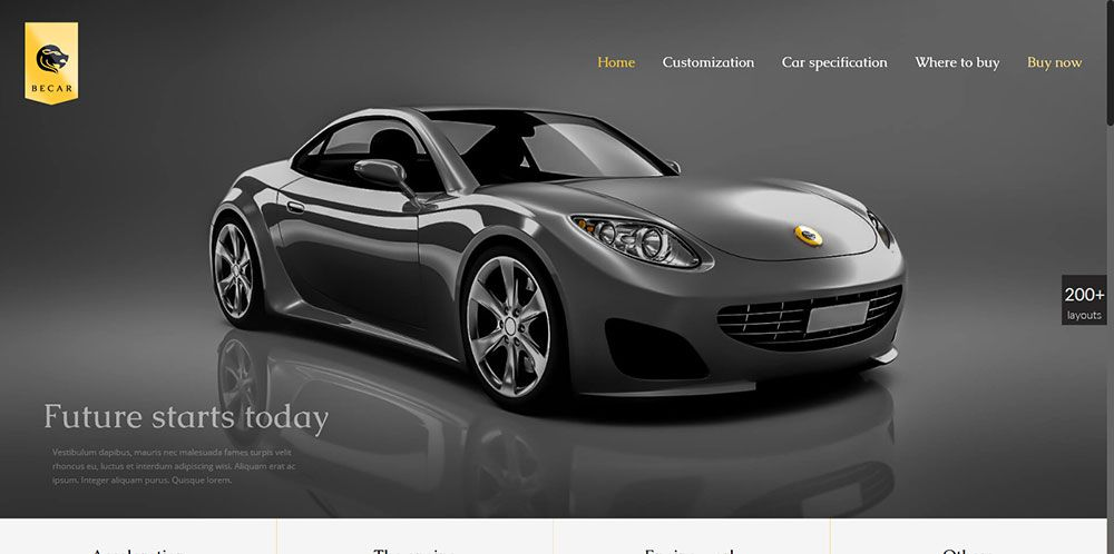 For clients who sell luxury products: Be Car