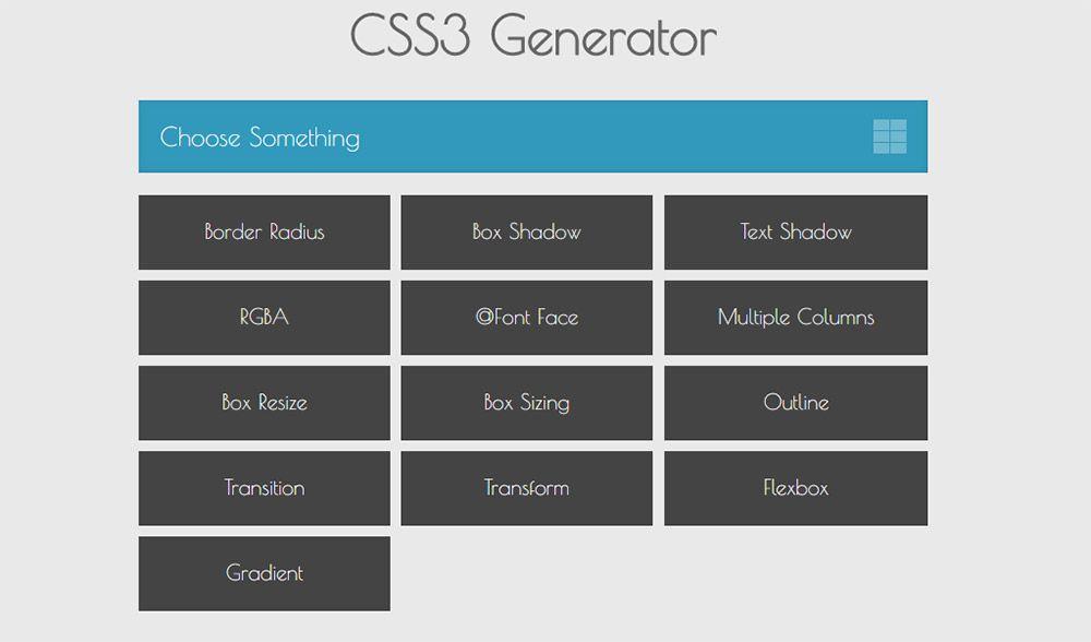 css3 generator webapp