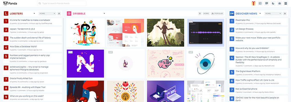 panda reader webapp