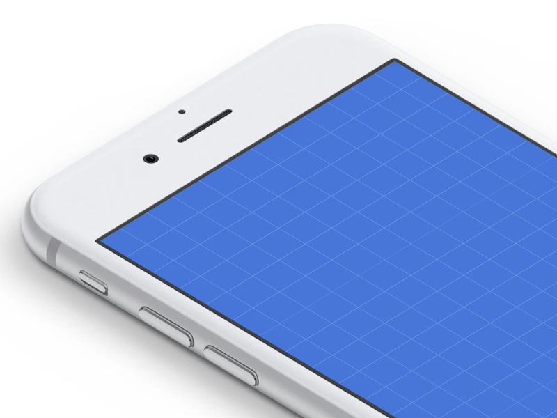 Isometric White iPhone Mockups