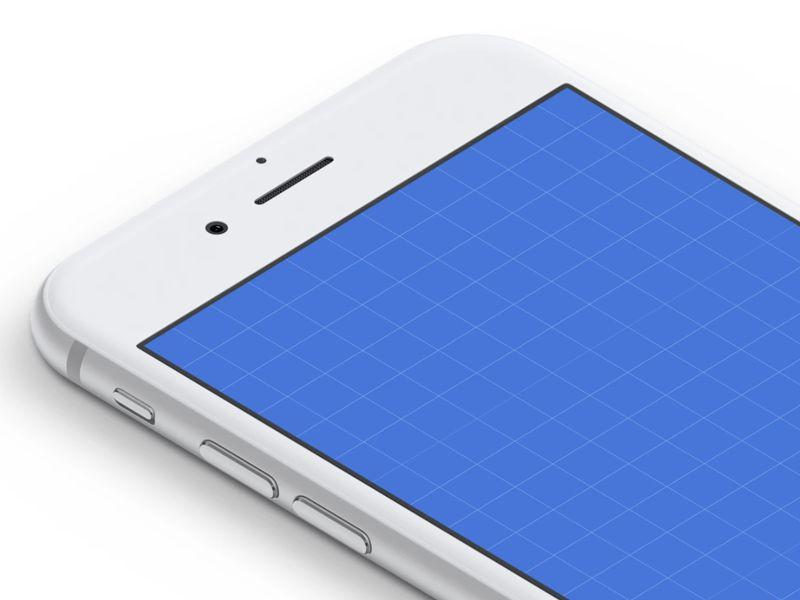 Isometric White iPhone Mockups