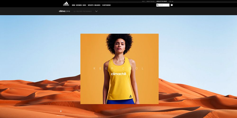 Adidas Motion Design in Web Design