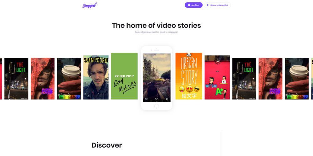 Snappd Motion Design in Web Design
