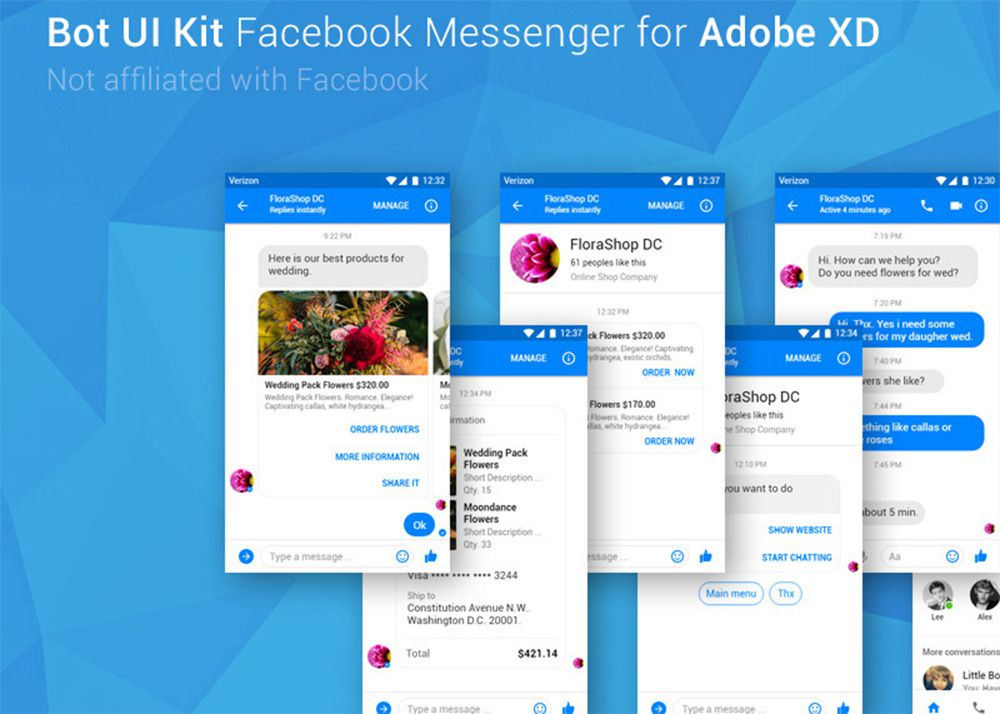 facebook messenger app gui