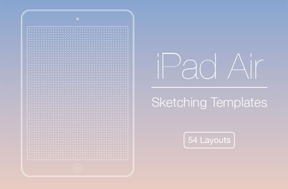ipad air print template