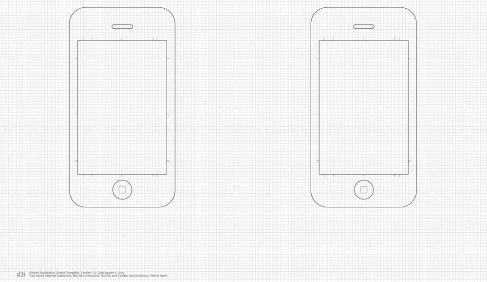 small iphone printable template