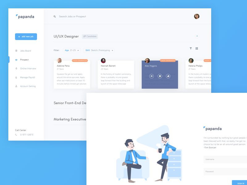 Papanda Inspiring Designed Admin Dashboard Layouts