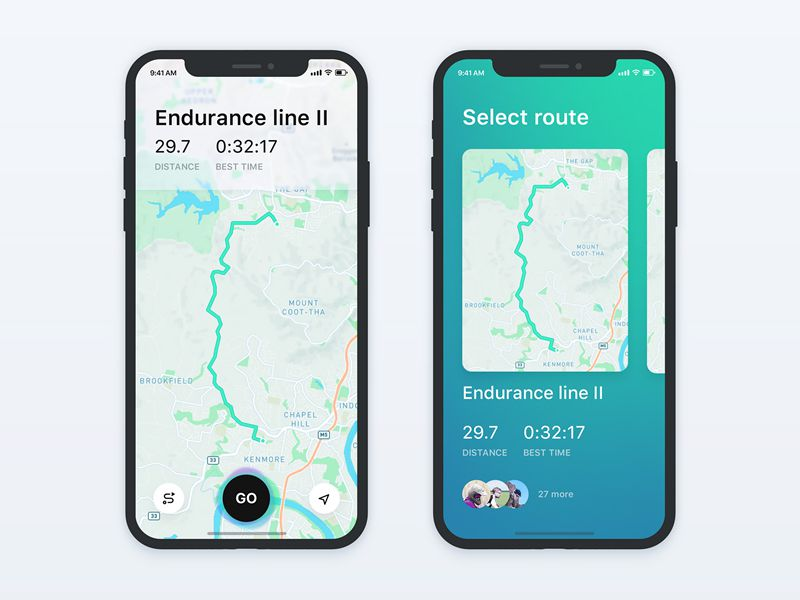 Map on iPhone X Creative Interpretations iOS