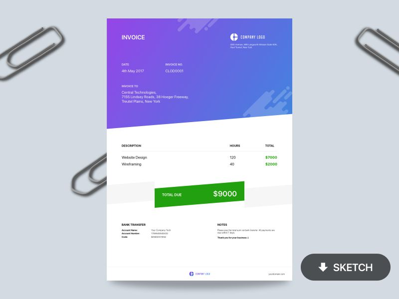 Beautiful Free Invoice Templates For Creatives  Invoice Design Template