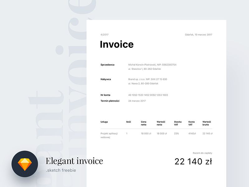 Elegant Sketch Beautiful Free Invoice Templates for Creatives