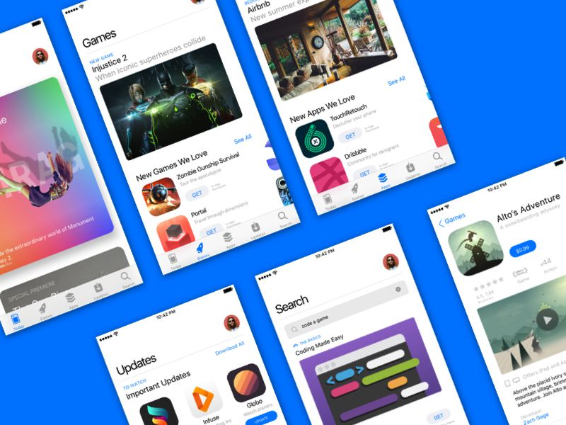 iOS 11 App Store Sketch Resource Free iOS 11 UI Kits Mockups Icon Sets