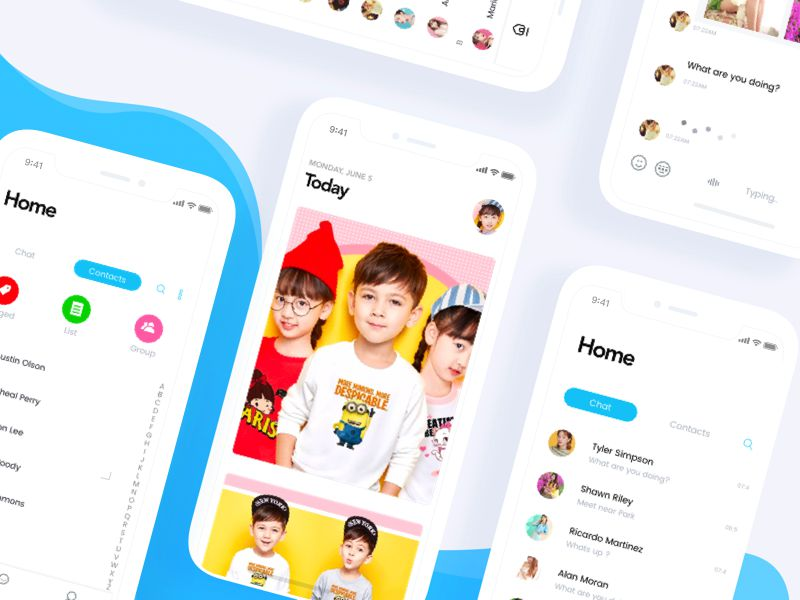 Kids Event App iOS 11 App Design