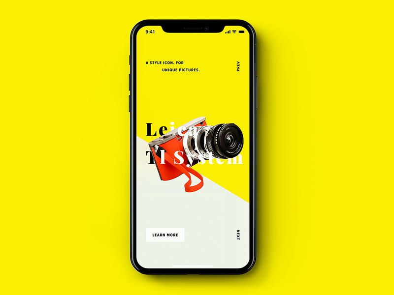 Photography Product iOS 11 App Design