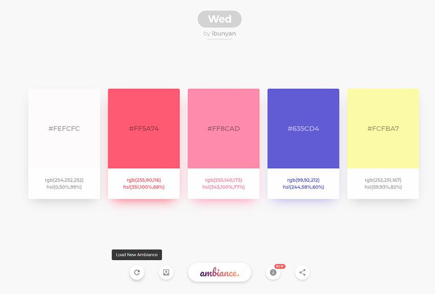ambiance color webapp