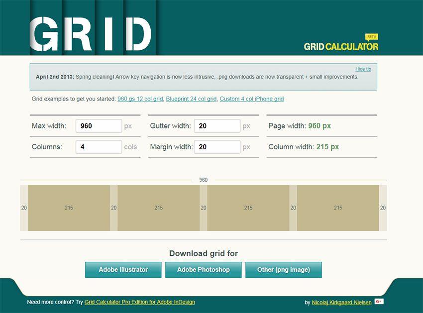 gridcalculator webapp