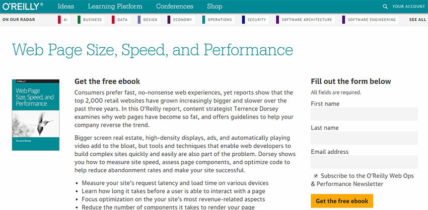website speed performance ebook