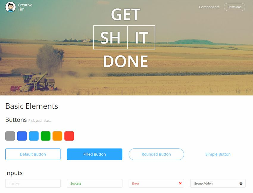 get shit done ui kit bootstrap
