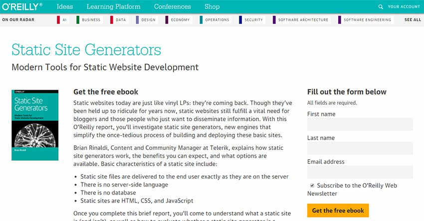 static site generator ebook