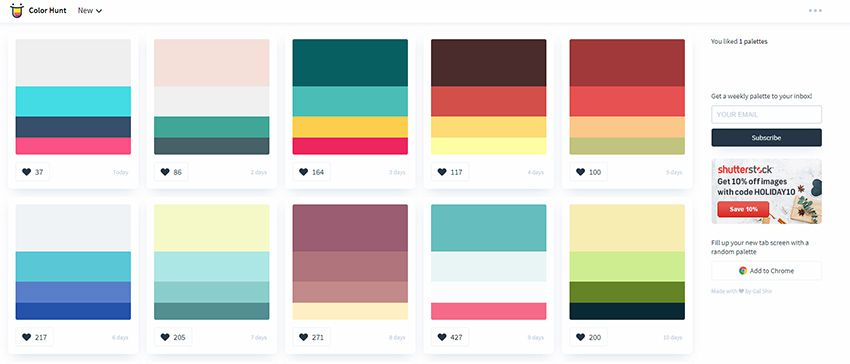 color hunt webapp
