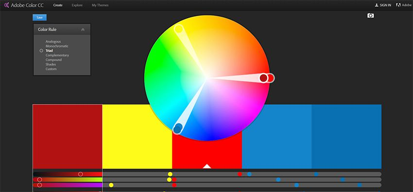 adobe color cc webapp