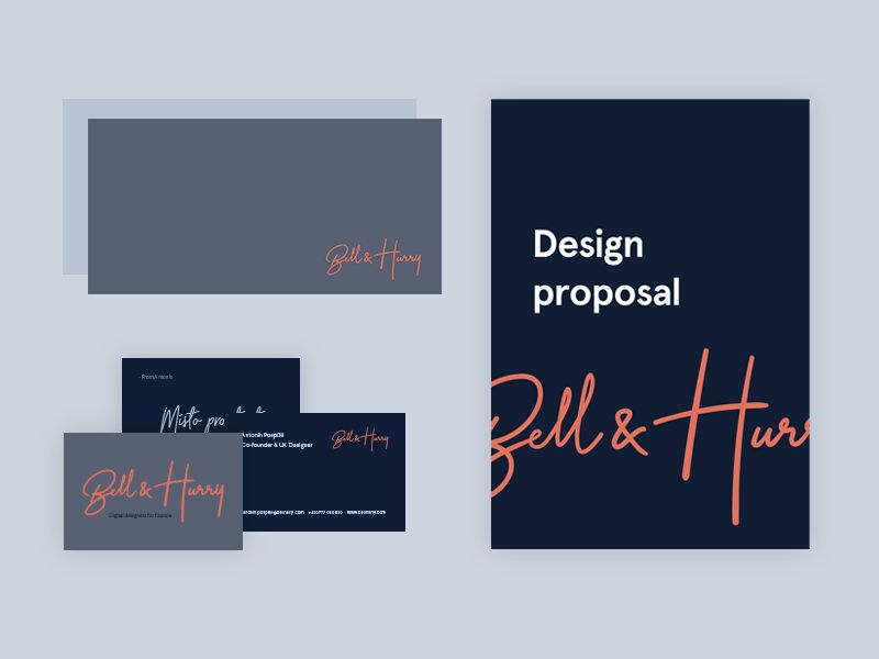 Rebranding B&H Branding Presentation Design inspiration
