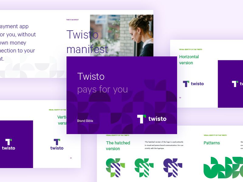 Twisto Brand Book Branding Presentation Design inspiration