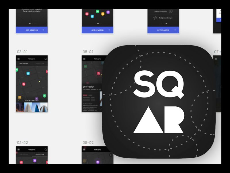 sqAR iOS 11 App Icons inspiration