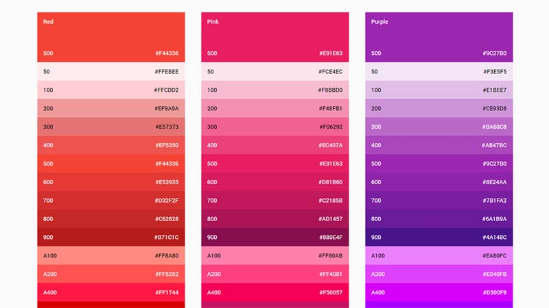 Google Material Color