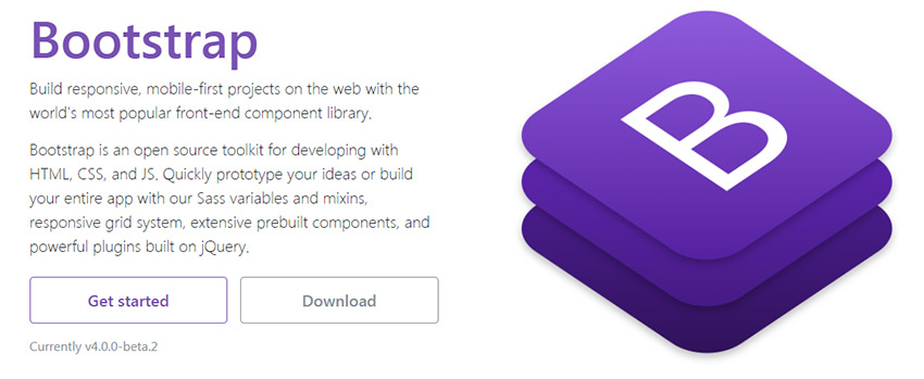 Bootstrap framework homepage