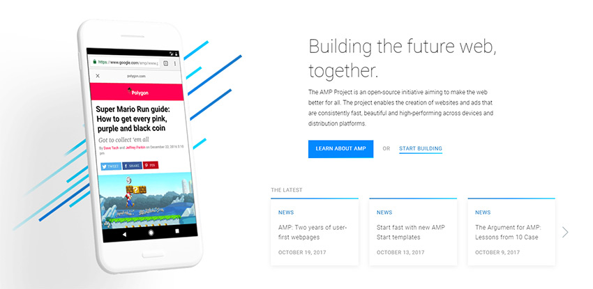 AMP mobile pages
