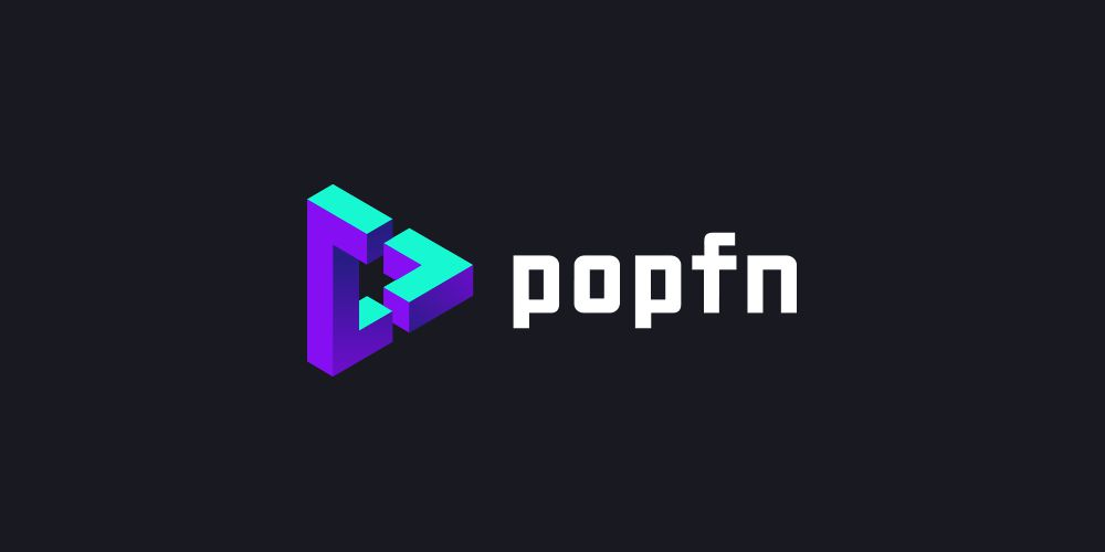 colorful logo design Popfn
