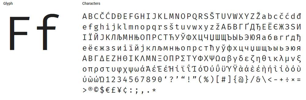 firamono font