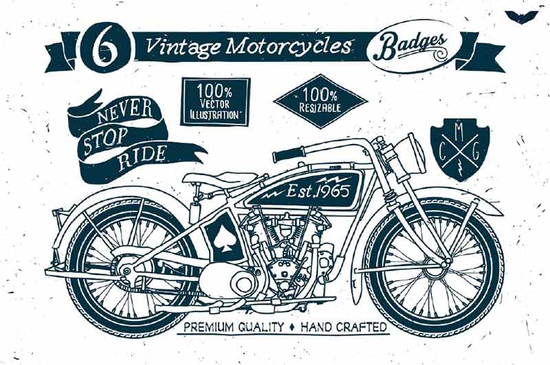 Vintage Motorcycle Badges
