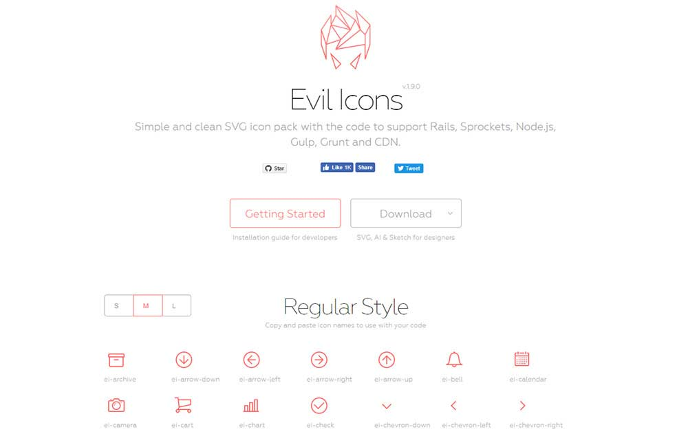 Evil Icons pack