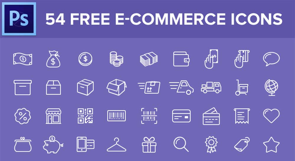 54 Ecommerce Icon Pack