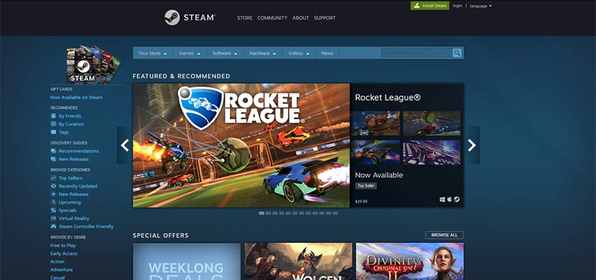 STEAM - a dynamic website