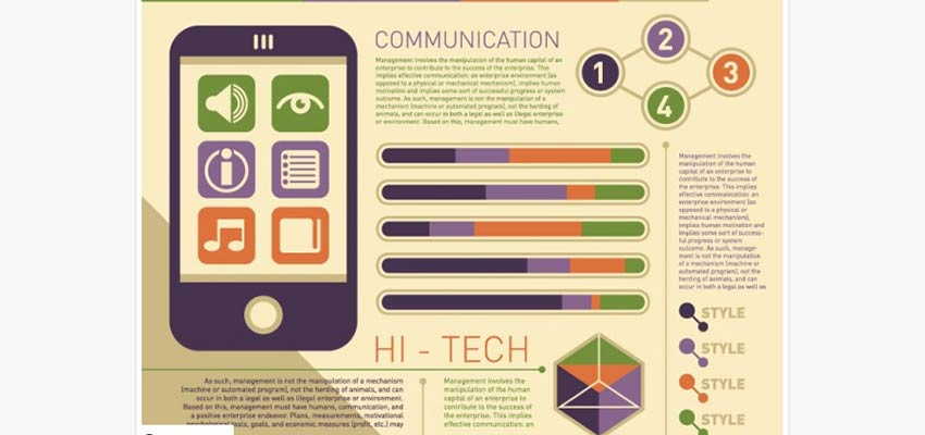 Communications Illustrator Infographic