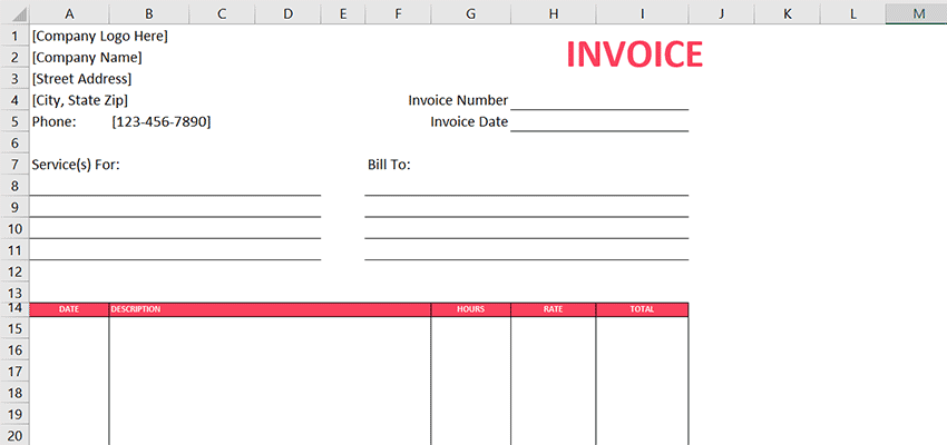 Free Graphic Design Invoice Template